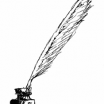 A quill pen illustrating the stream of consciousness writing concept